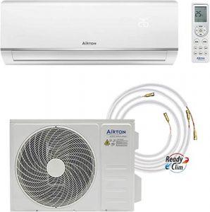 pack climatisation maison avec pompe à chaleur Airton R32-3400-3600W meilleur kit pas cher