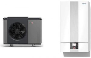 Pompe à chaleur 9146862 CHA système électrique monoblock de 7 kW et 400 V fabriqué par Wolf expert chauffage